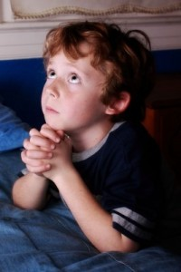 Little child praying