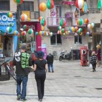 Festive mood in the streets of Jerusalem