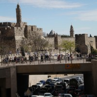Traffic jam at Jaffa gate