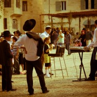 On the plains of Jerusalem during Sukkot you can see lots of temporary eating places