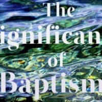 significance of baptism in Y'Shua