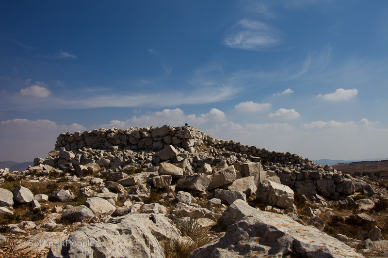 A picture of what the altar currently look like on Mount Ebal in Israel
