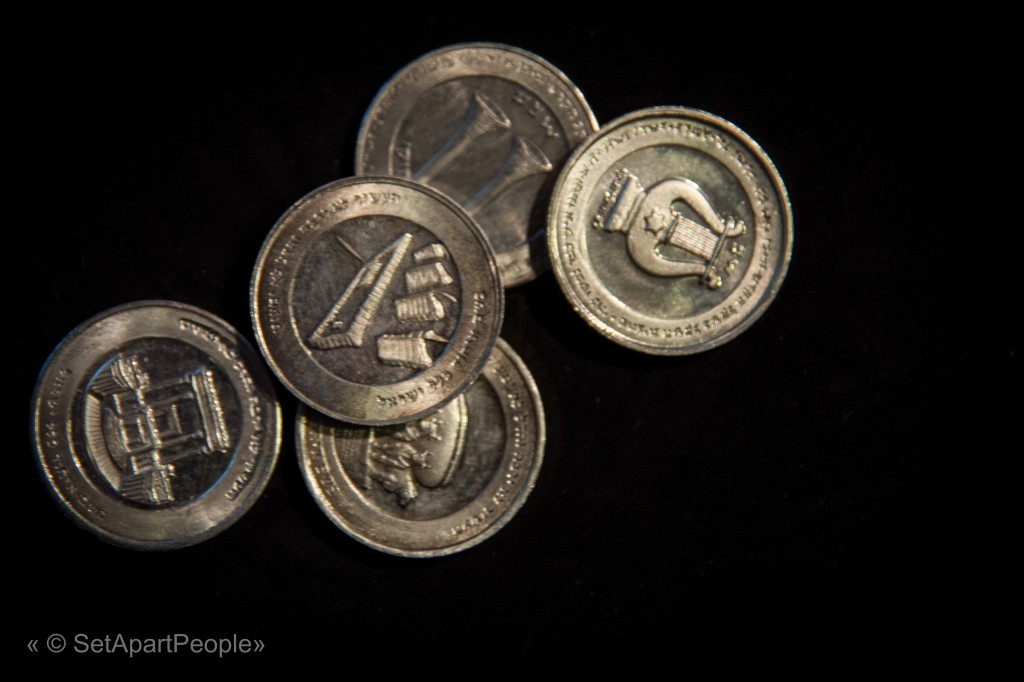 The five silver shekels for the redemption of the firstborn son