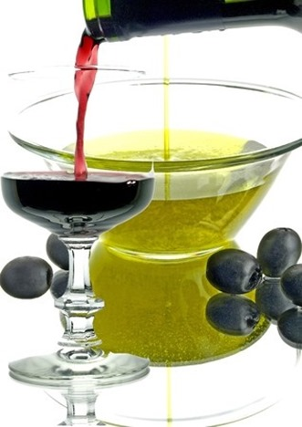 wine and oil