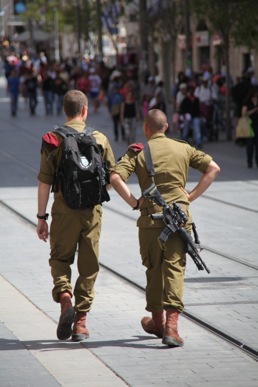 Soldiers walking around remind you of the threat that this nations lives under.
