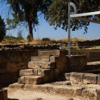 The high place where the golden calf was kept at Dan in Israel