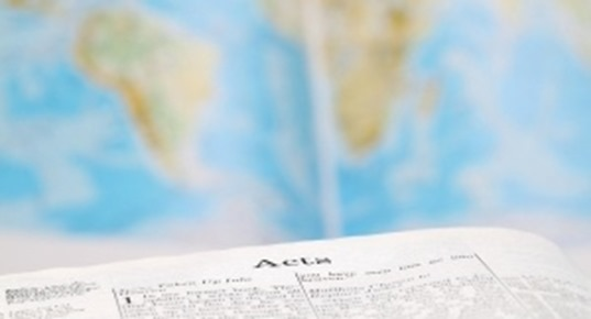 Acts on world map